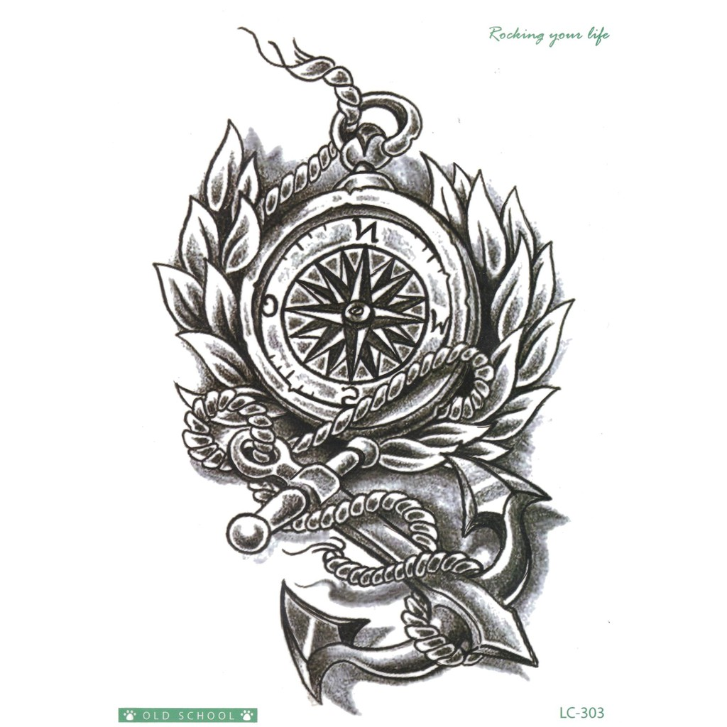 Lc303 Tato Temporary Stiker Compass Shopee Indonesia