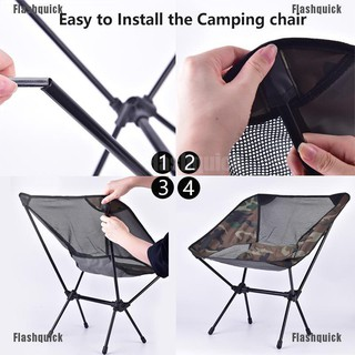 Brightmoon Camping Chair Camouflage Lightweight Compact Folding Camping Backpack Chairs Shopee Indonesia