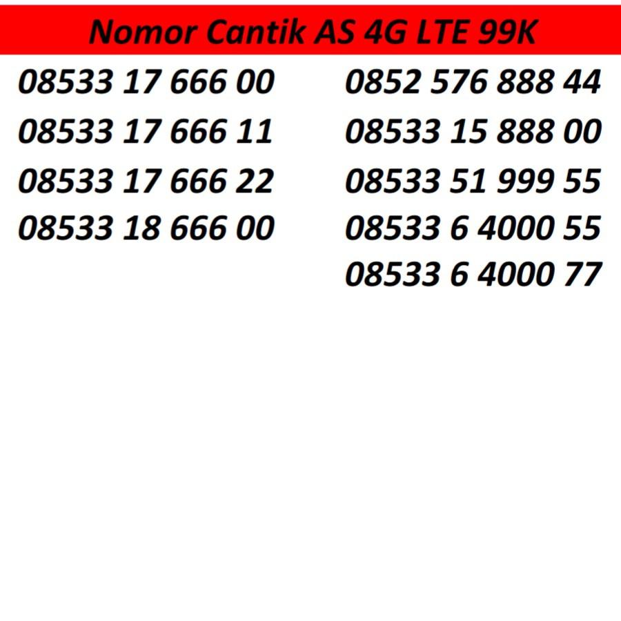 Katru perdana Nomor Telkomsel .
