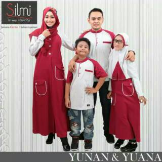 YUNAN YUANA Sarimbit couple muslim Seragam keluarga Koko gamis ayah ibu anak murah branded baju baru