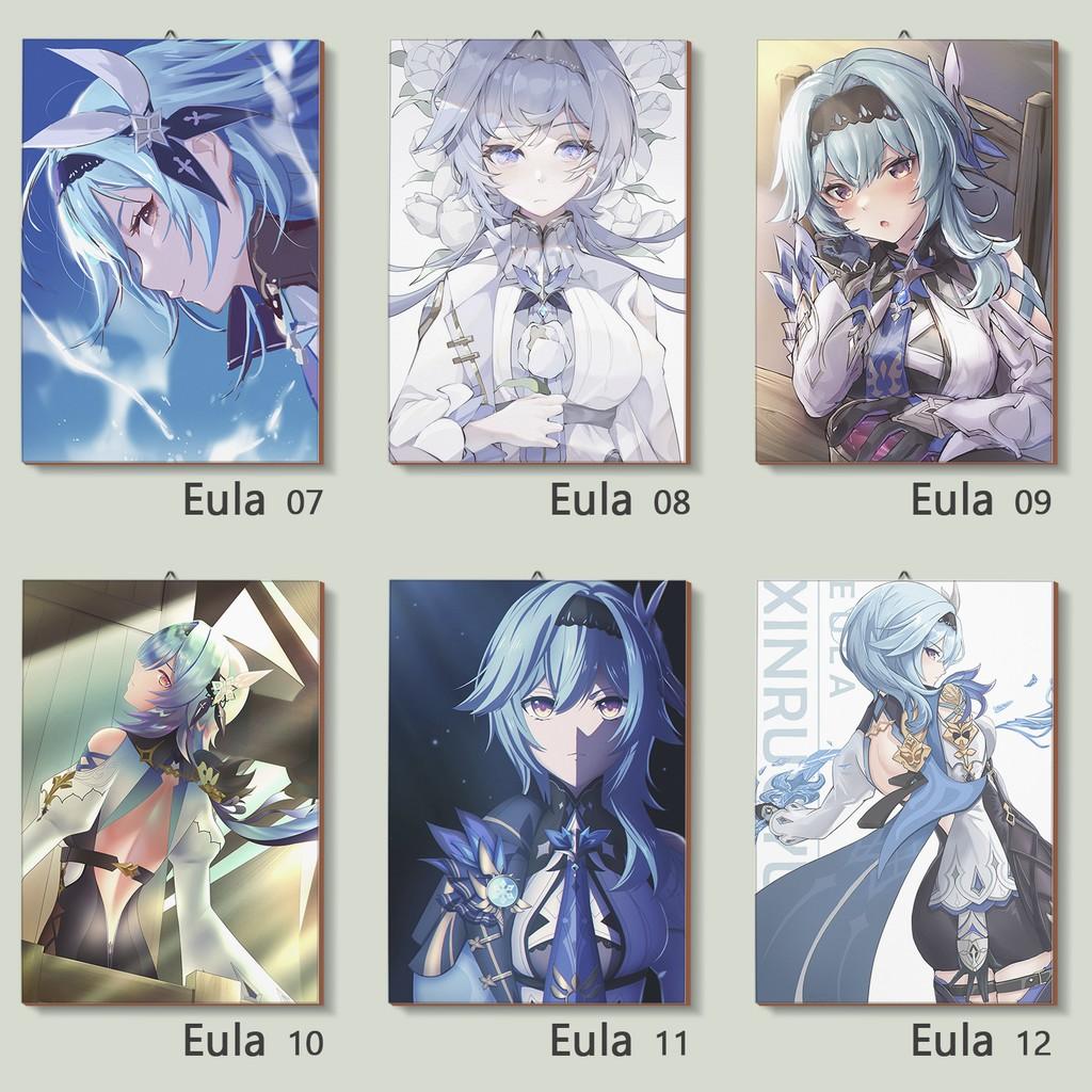 Genshin Impact Eula Collections Poster Kayu Game Genshin Impact Shopee Indonesia