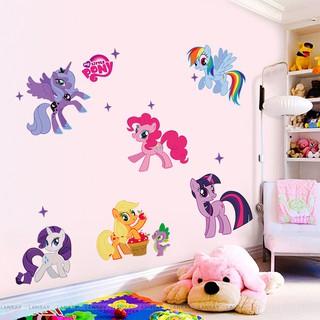Diy Stiker Dinding Dengan Bahan Pvc Mudah Dilepas Dan Gambar My Little Pony Untuk Kamar Anak Shopee Indonesia