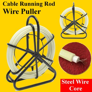 Tools Power Tool Accessories 10pcs 6mm Fiberglass Cable Puller Running Wire Cable Coaxial Electrical Fish Tape Pull Push Kit Threader Guide Electricians Handsome Appearance