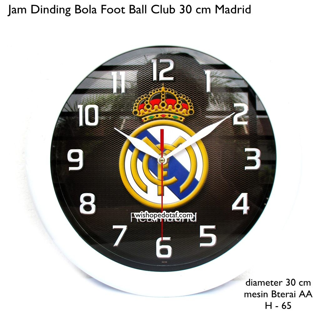 Jam Dinding Real Madrid   Jam Dinding Madrid   Jam Dinding Club Bola Real  Madrid  c0ca7d9b83