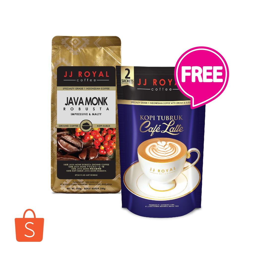 Bundling JJ Royal Coffee Aceh Gayo + Flores Arabica Ground bag 200gr | Shopee Indonesia