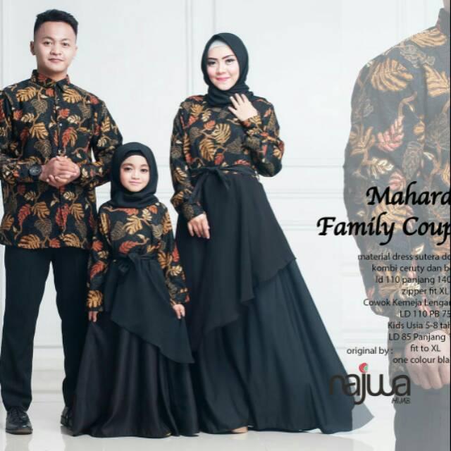 Couple batik family ayah ibu dan anak perempuan. Set sarimbit keluarga batik  modern  17cbdfa78f