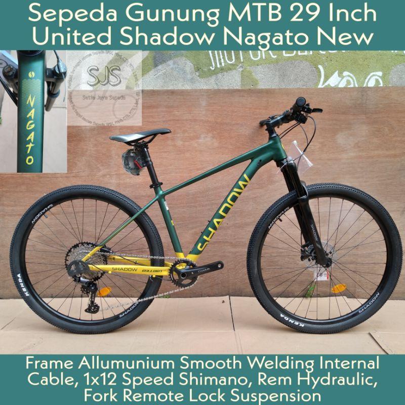 Sepeda Gunung MTB 29 Inch UNITED SHADOW NAGATO New Alloy 12 Speed Hydraulic