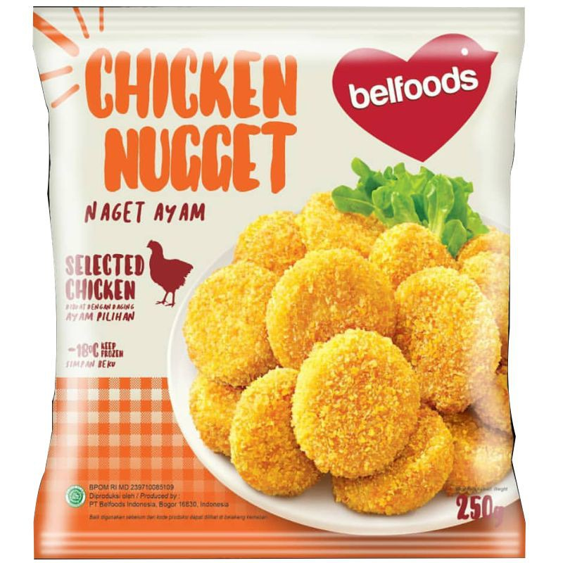 Belfoods Fav Chicken Nugget 250gr Jevina Frozenfood Malang Shopee Indonesia