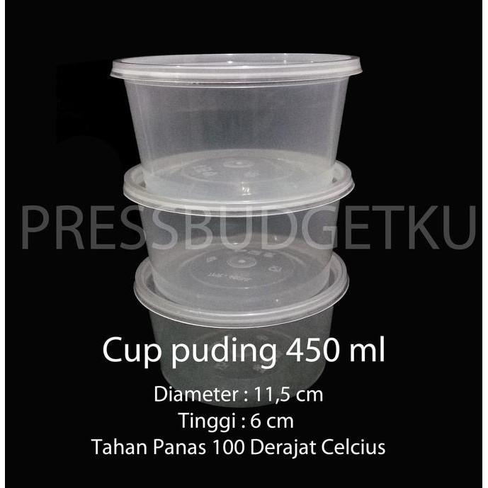 New Cup Puding / Tempat Sayur / Wadah Plastik / Kotak 450 Ml Best Produk |