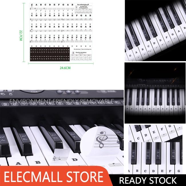 Stiker 88 Kunci Piano Elektronik Transparan Shopee Indonesia