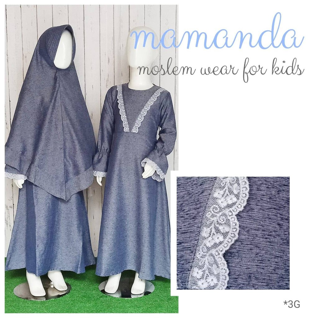 Gamis Anak Denim Saleha Series by Mamanda