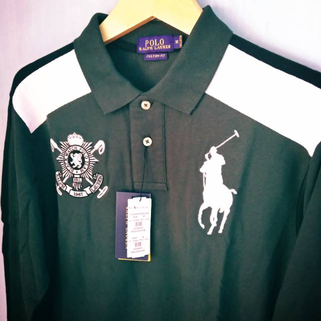 Polo Ralph Lauren Polo Shirt Long Sleeve Fashion Blackwatch Shopee Indonesia
