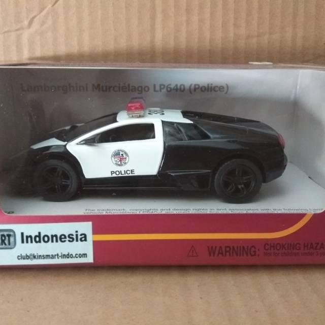 Diecast Kinsmart Lambo Murcielago Police Shopee Indonesia