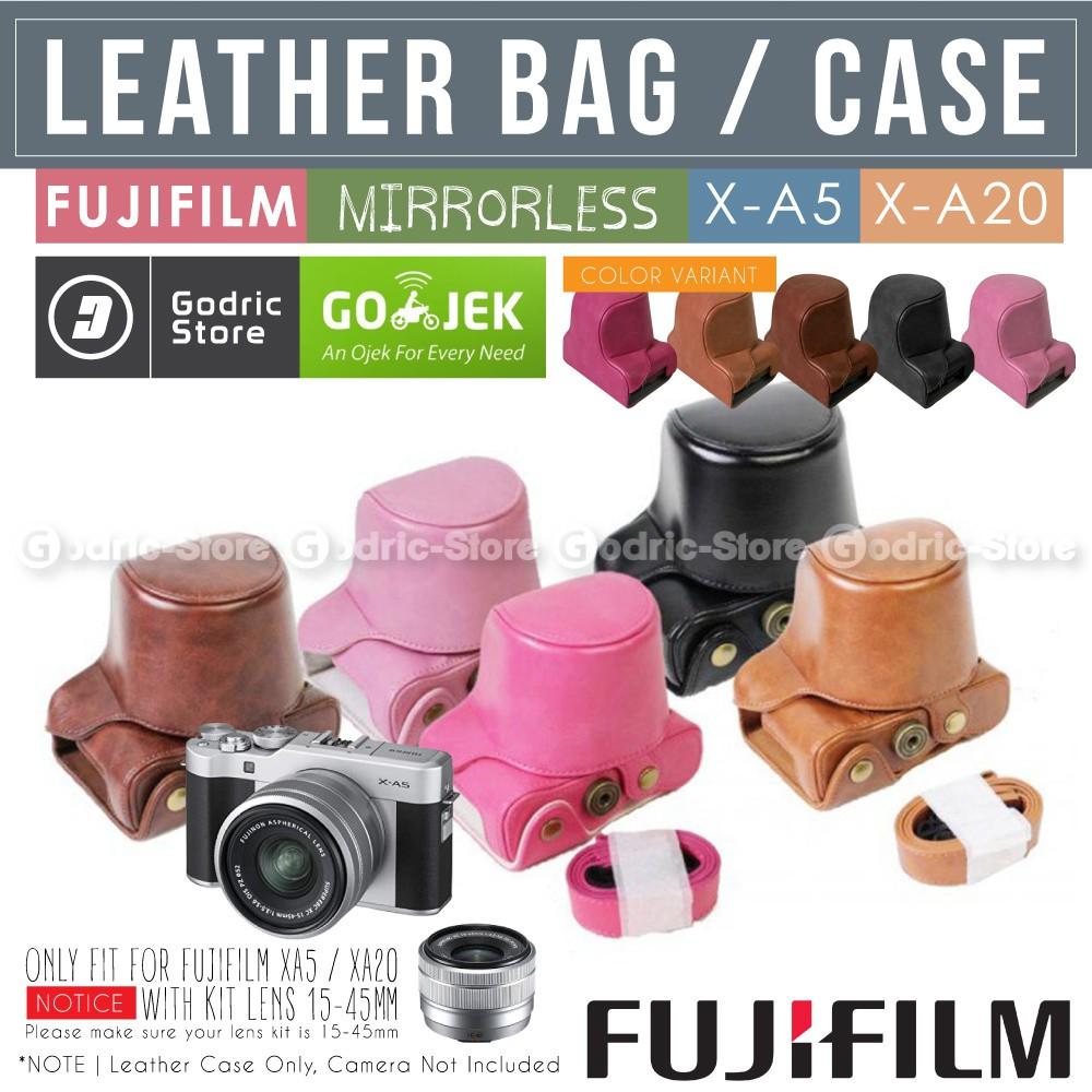 Fujifilm X A3 X A5 X A10 X A20 Leather Bag Case Tas Kulit Kamera Mirrorless Xa3 Xa5 Xa10 Xa20