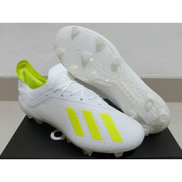 Sepatu Bola Adidas X 18 1 Next Gent White Volt Shopee Indonesia