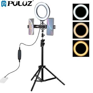 Lampu Led Ring Vlogging 6 2inch Tripod Untuk Kamera Video Shooting Shooting Youtube Shopee Indonesia