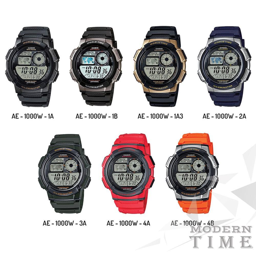 Termurah Casio Digital Jam Tangan Pria - Merah - Strap Karet - AE-1000W-4A RT | Shopee Indonesia