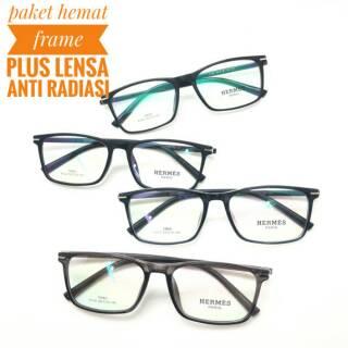 Frame kacamata lentur wanita gaya selebgram lensa anti minus ... 1f99ad11a2