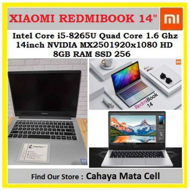 Xiaomi Redmibook 14 inch i5-8265U 256GB Windows 10 Home English Notebook