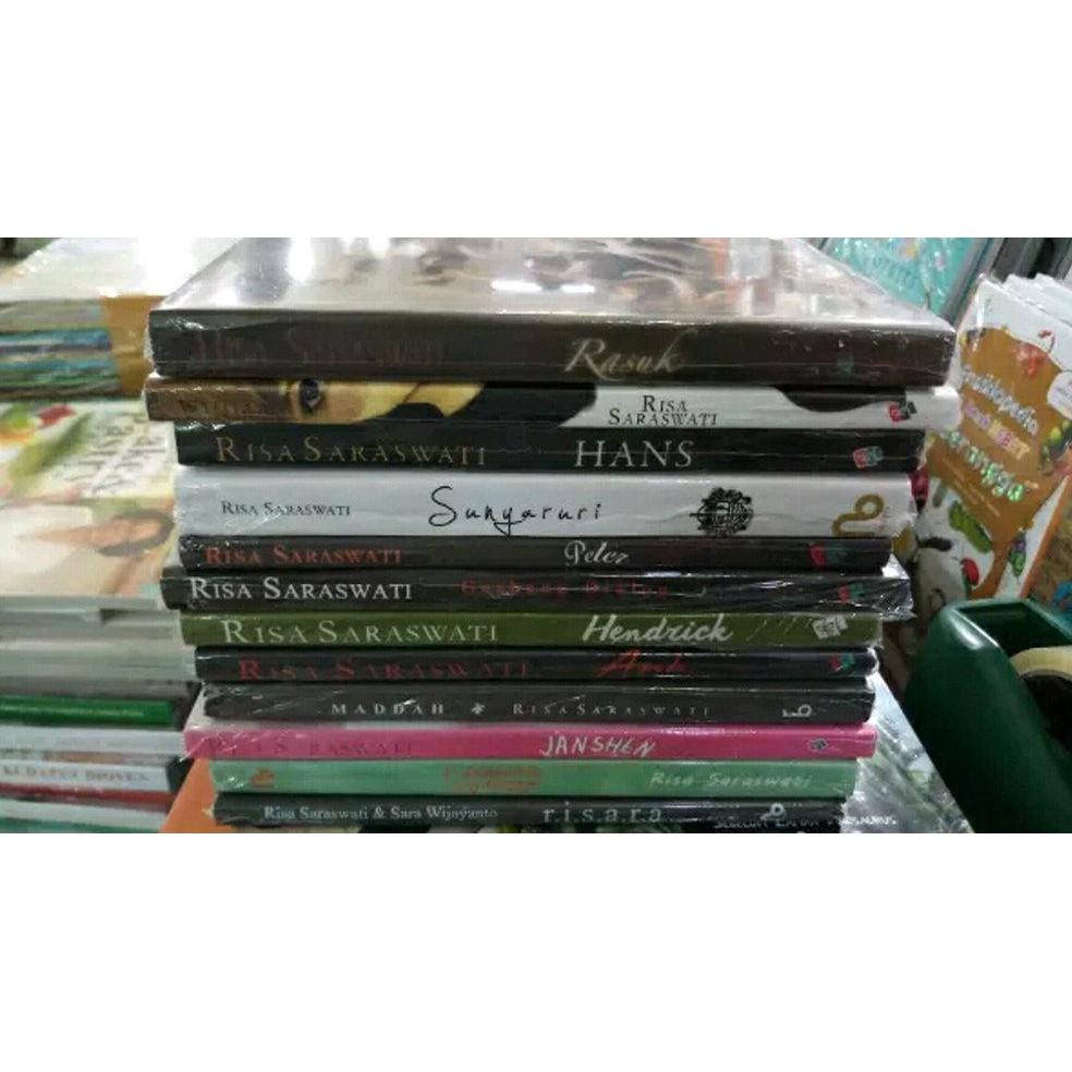 Novel RISA SARASWATI 12 BUKU HANS WILLIAM HENDRICK JANSHEN ASIH PETER SUNYARURI ANA   Shopee Indonesia