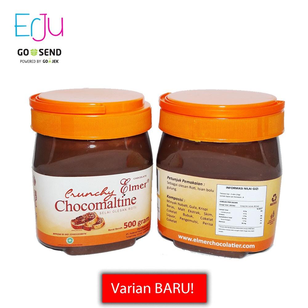 Elmer Crunchy Chocomaltine Selai Coklat Topping Cokelat 200 Gr Chocolate 1kg Shopee Indonesia
