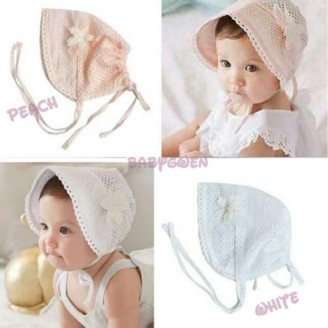Babygwen Topi noni bonnet topi bayi  a85fd94997