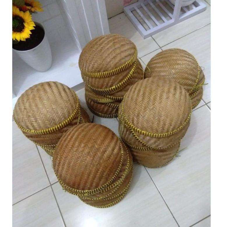 (SuP3R Seller BY 22Ma6Cn) Tempat Bawang/Wadah Bawang/kalo/besek/anyaman bambu ☑