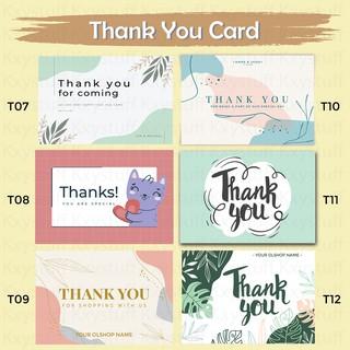 Cetak Thank You Card / Kartu Ucapan Terima Kasih Custom ...