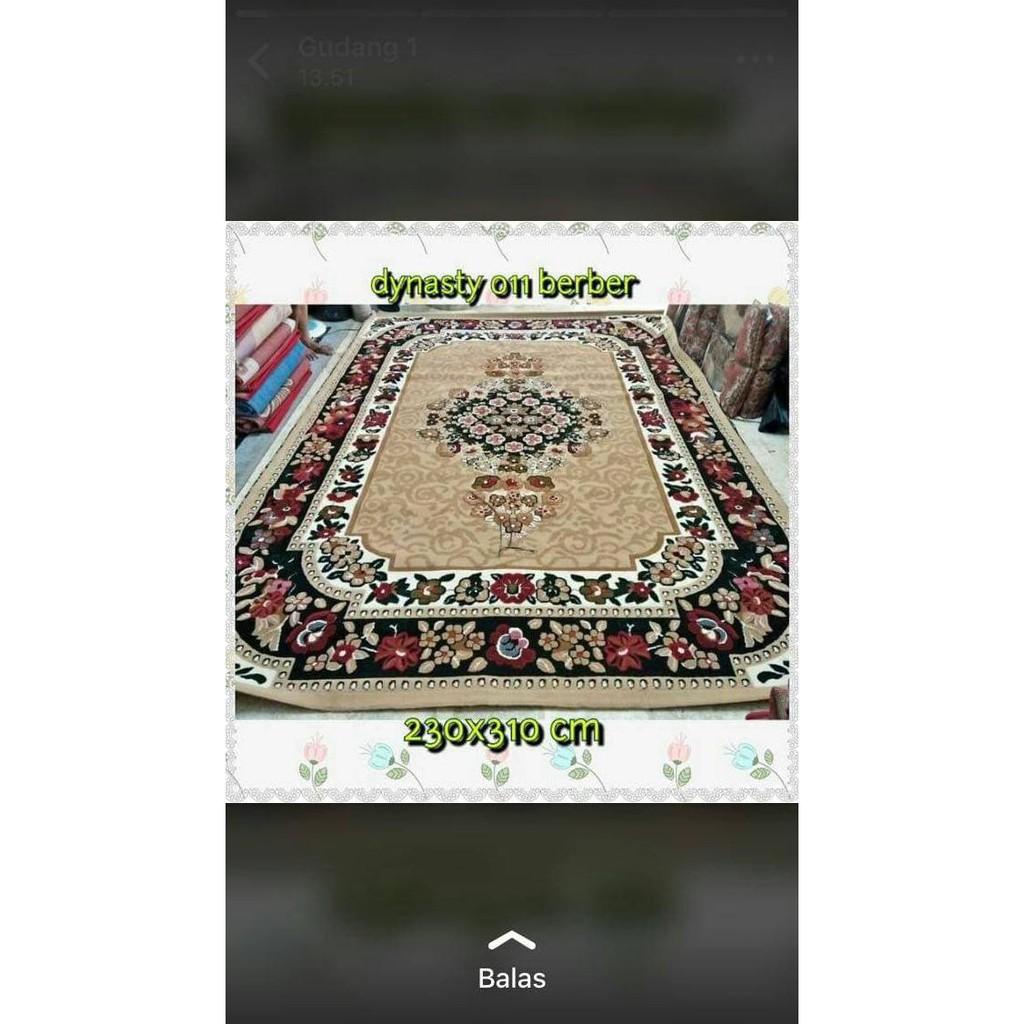 Karpet Permadani Super Jumbo Besar Dynasty 250x330 Cm Shopee Indonesia Rumah Panda 180 X 250 Ungu