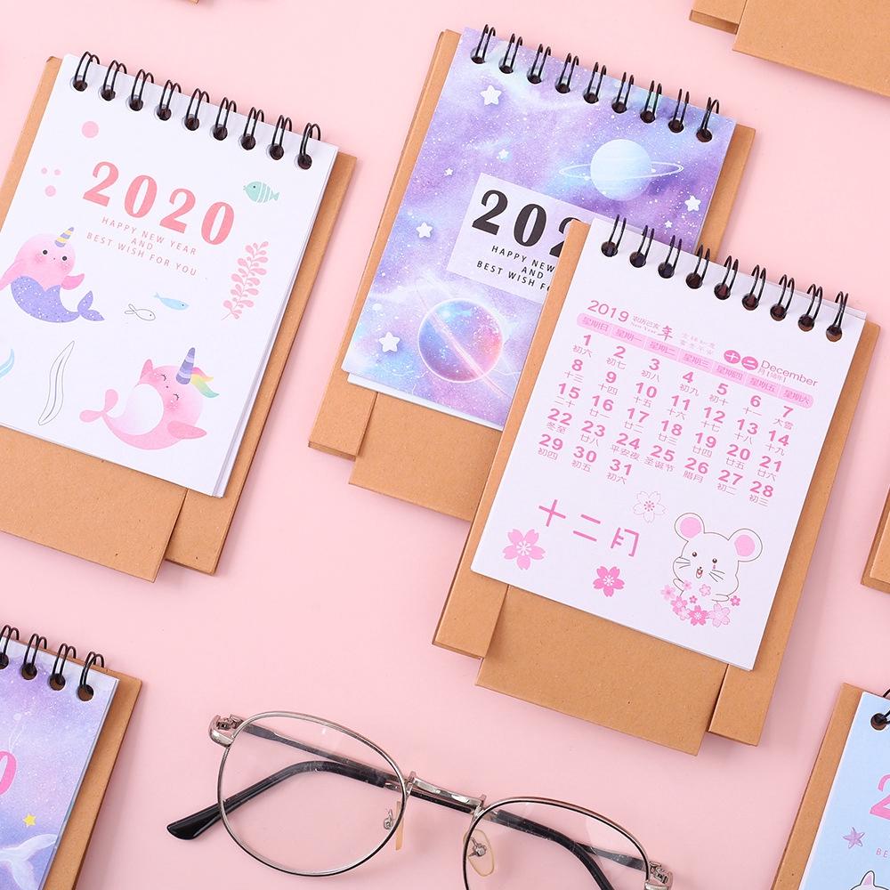 Kalender Meja 2020 Ukuran Mini Dengan Gambar Kartun