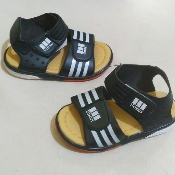... Obral sandal sport anak hitam umur 1-3 tahun / sandal karet anak laki size ...