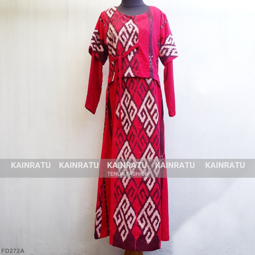 Gamis Tenun Model Layer Ntt Shopee Indonesia
