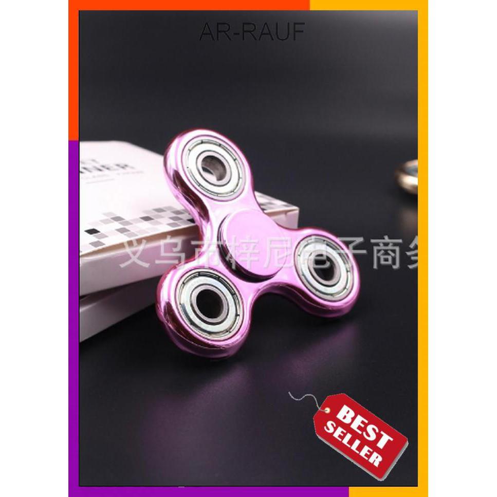 BUY 1 GET 1 FREE Metal Hand Spinner Fidget Chrome Premium Stress.