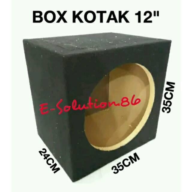 "Box Subwoofer Kotak 12"" Box Speaker 12 inch Box Salon Box Audio Sound Box Speker Mobil Box 12inch"