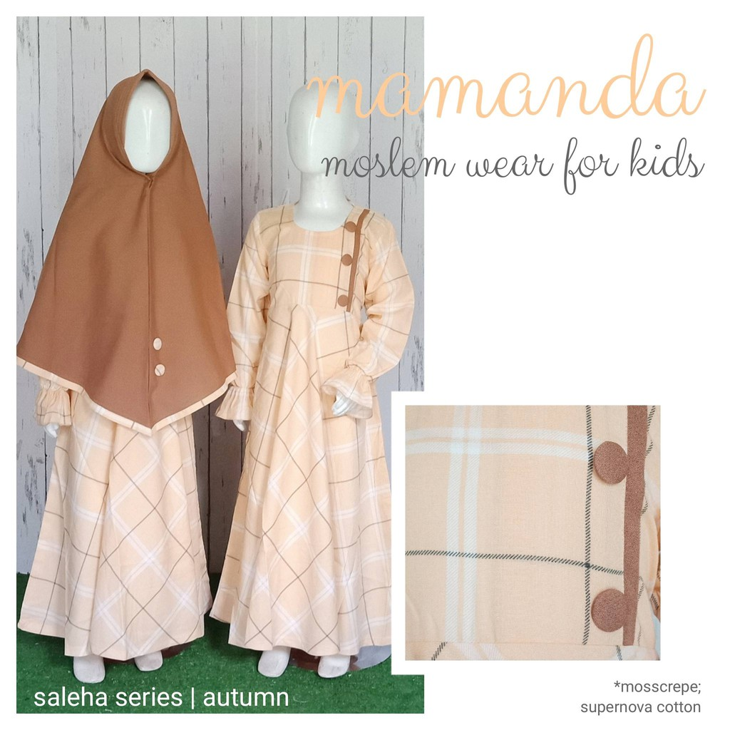 Gamis Anak Autumn Saleha Series by Mamanda
