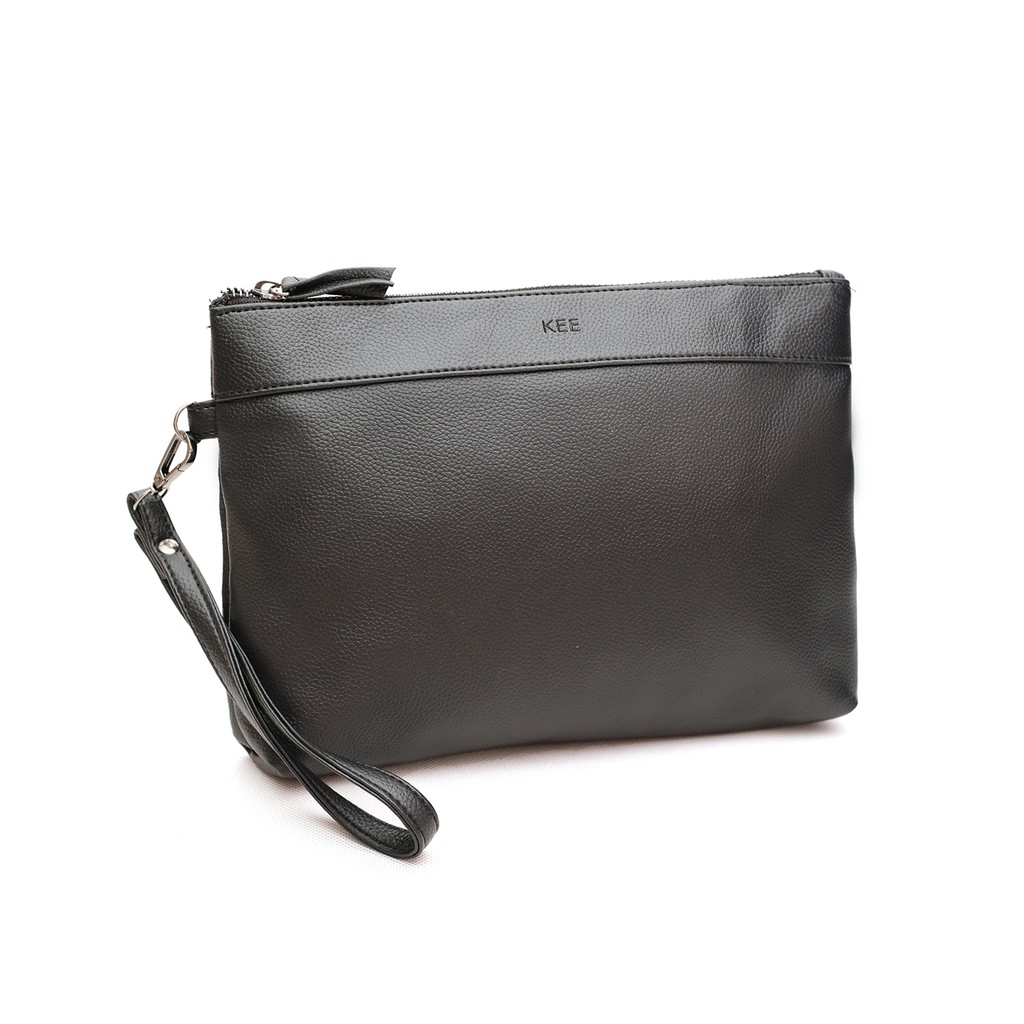 Tas Tangan KEE Ox Clutch Bag Murano Leather - Black 017d0a883e539