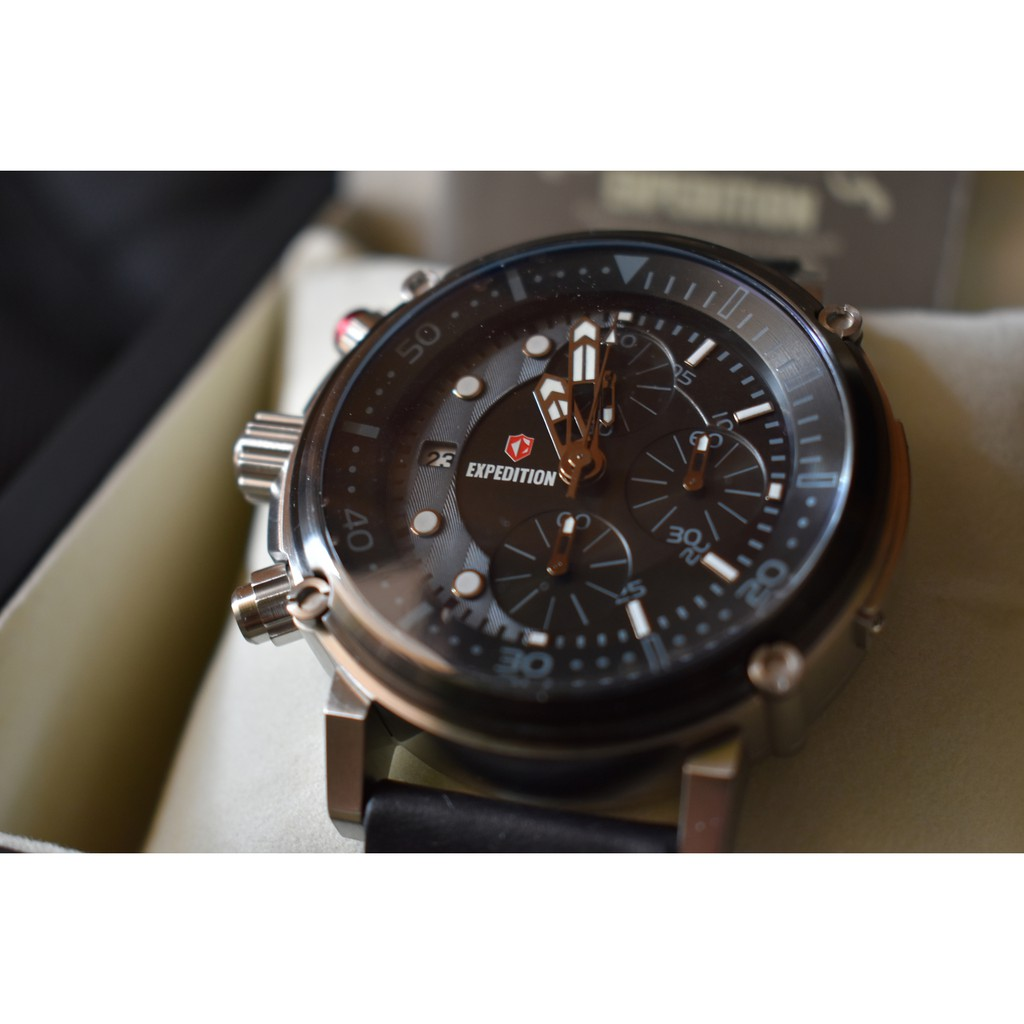 Jam Tangan Cowok Pria Expedition Airborne E 6335 E6335 Original 6713 Automatic Full Balck Shopee Indonesia