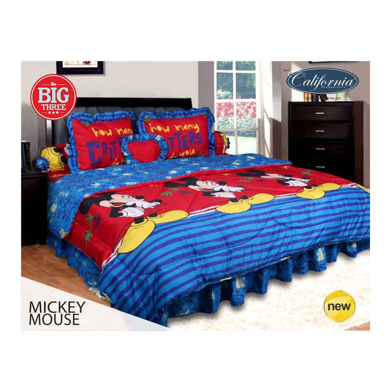 Bedcover + Sprei Rumbai MY LOVE / CALIFORNIA 180x200 King Size 180 MICKEY MOUSE - Disney