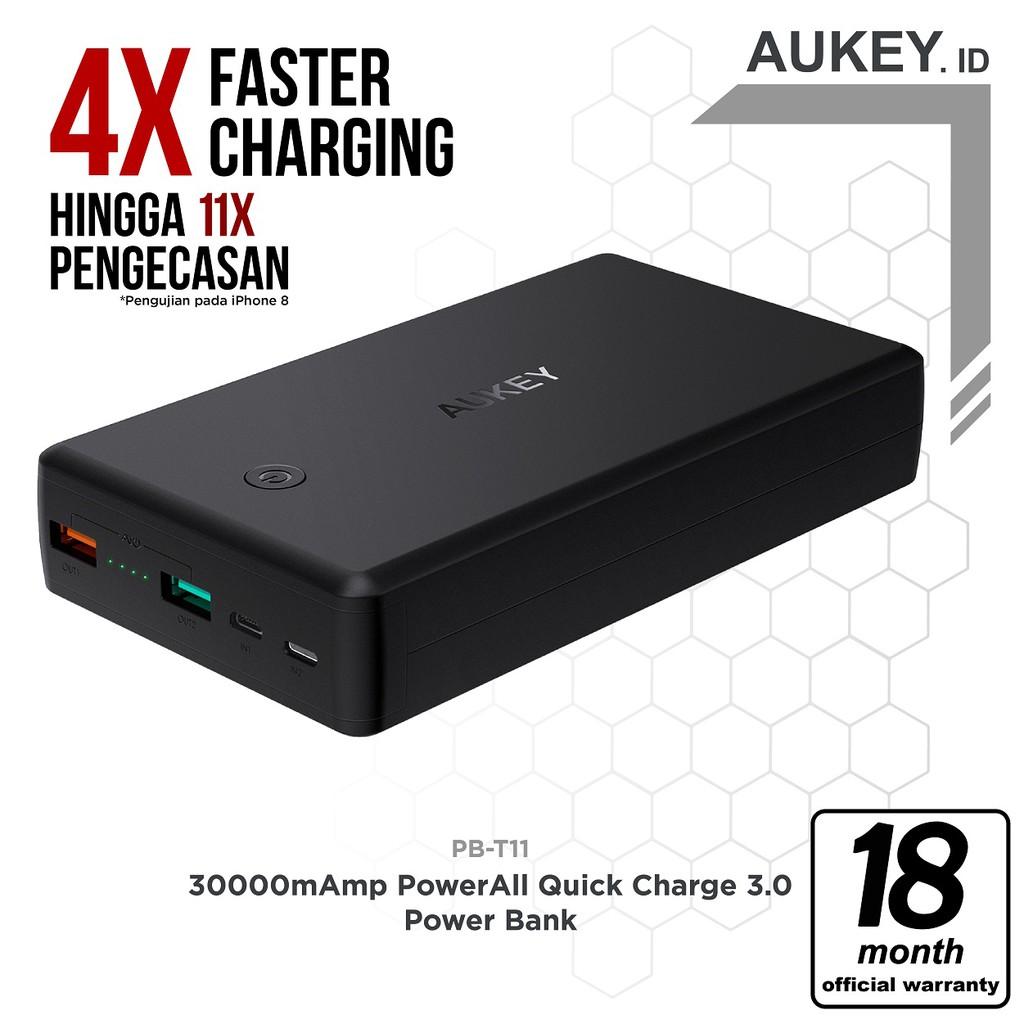 Powerbank Uneed 12000mah Real Qualcomm Quick Charge 30 Type C Quickbox 12 Black Shopee Indonesia