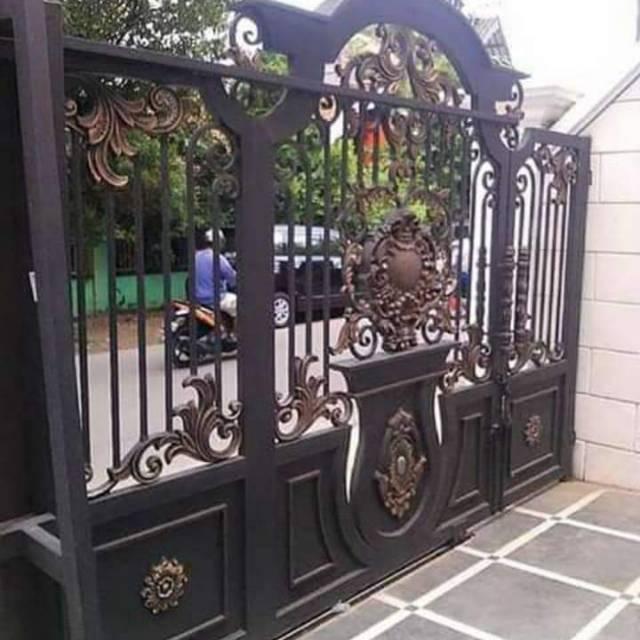 Pintu Gerbang Tempa Klasik Minimalis | Shopee Indonesia