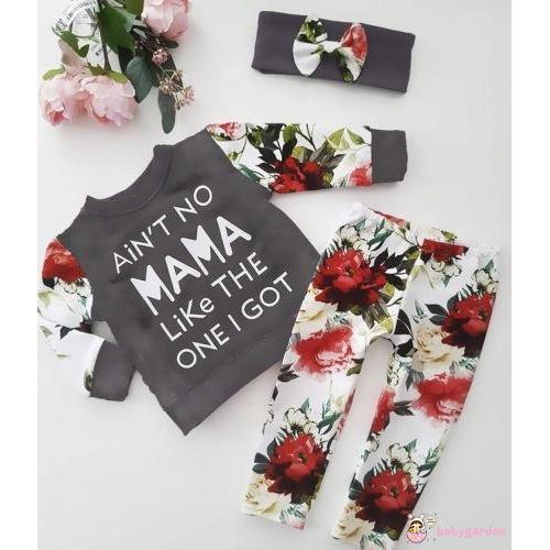 Igd Kaos T Shirt Lengan Panjang Motif Bunga Celana Legging Untuk Bayi Perempuan Shopee Indonesia