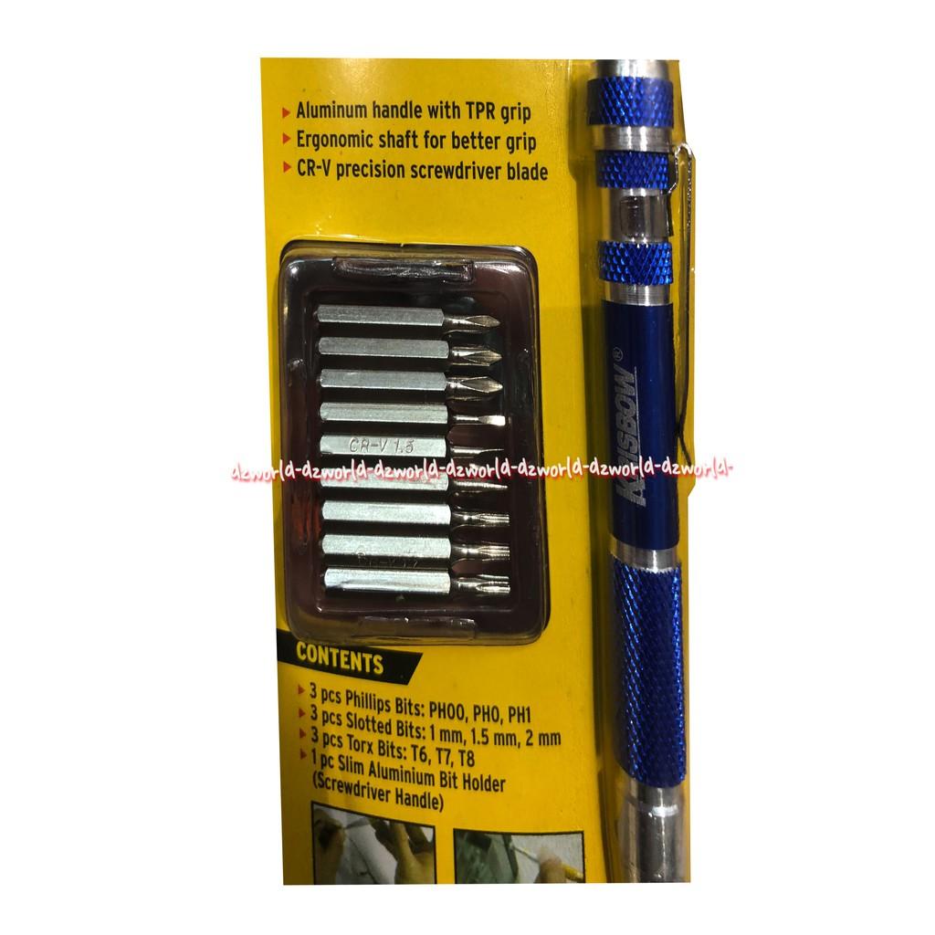 9 in 1 Precision Screwdriver Aluminium Torx Slotted Philips Bit Set Diy Tools