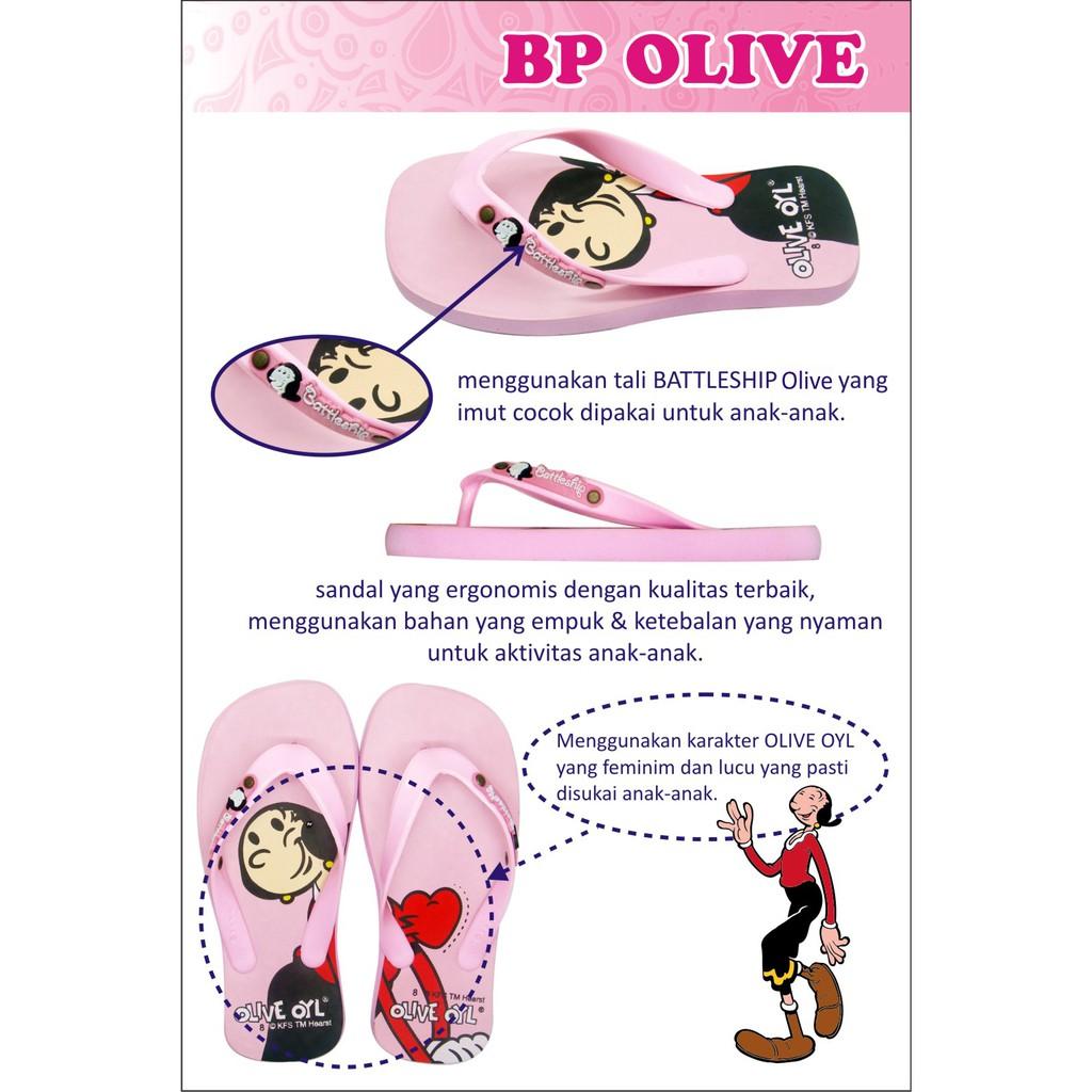 Sandal Anak Lucu Karakter Popeye Olive Brutus