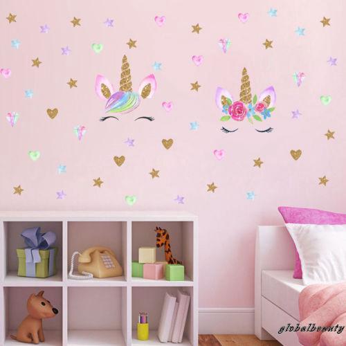 Stiker Dinding Gambar Unicorn Untuk Dekorasi Kamar Anak Perempuan Shopee Indonesia