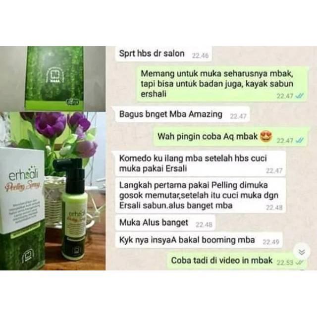 Erhsali Peeling Spray Original Nasa Mengurangi Kerut Mengencangkan Wajah Shopee Indonesia