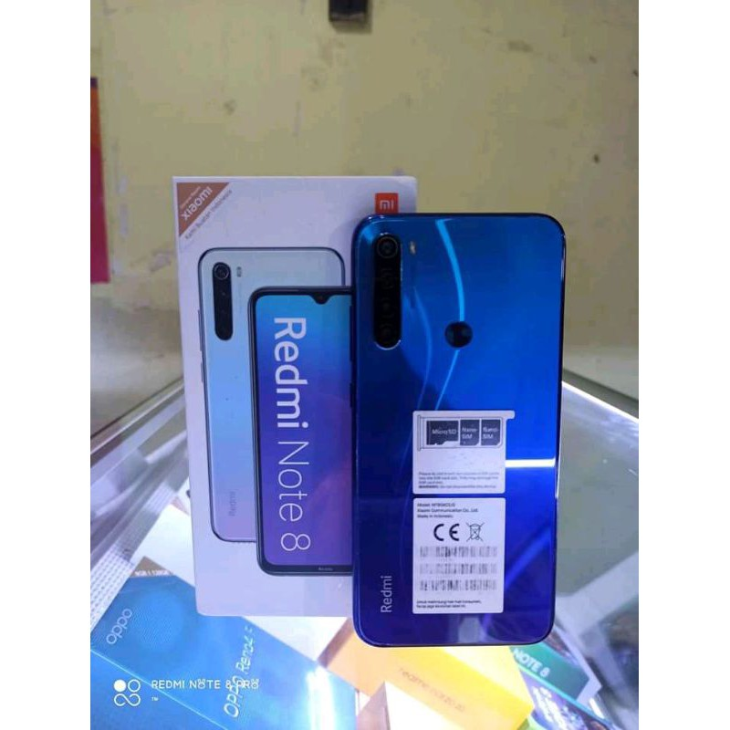 Hp Xiaomi Redmi note 8 RAM 4/64 Fullset Second Bergaransi toko