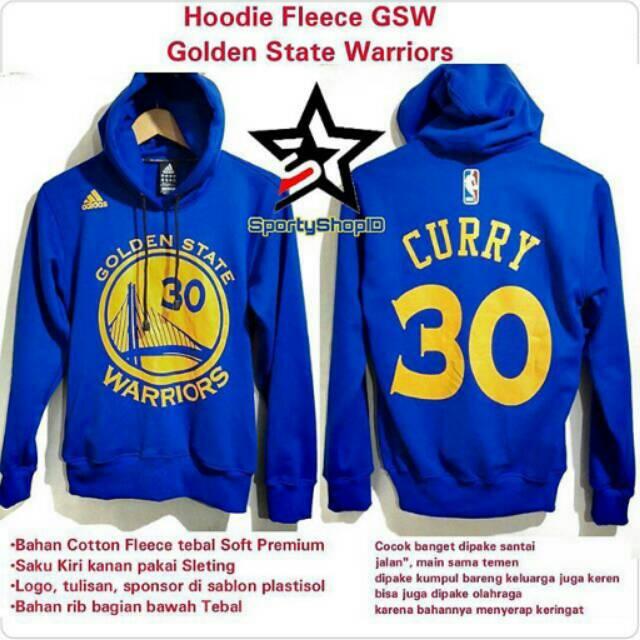 e284090be2bf JAKET HOODIE BASKETBALL NBA GOLDEN STATE WARRIORS STEPHEN CURRY BLUE GRADE  ORIGINAL ADIDAS FULL TAG
