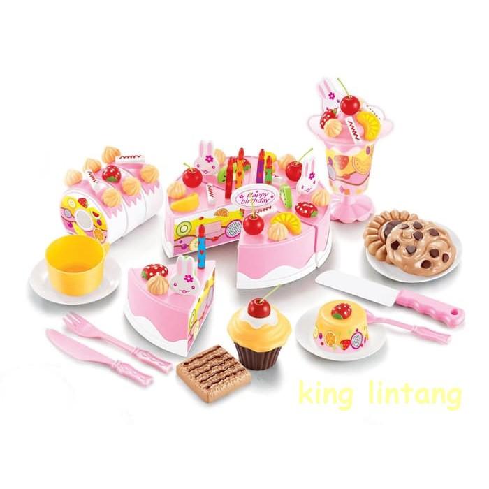 Cake Kue Pink Kue Ulang Tahun Masak Masakan Mainan Anak Perempuan Mainan Anak Shopee Indonesia
