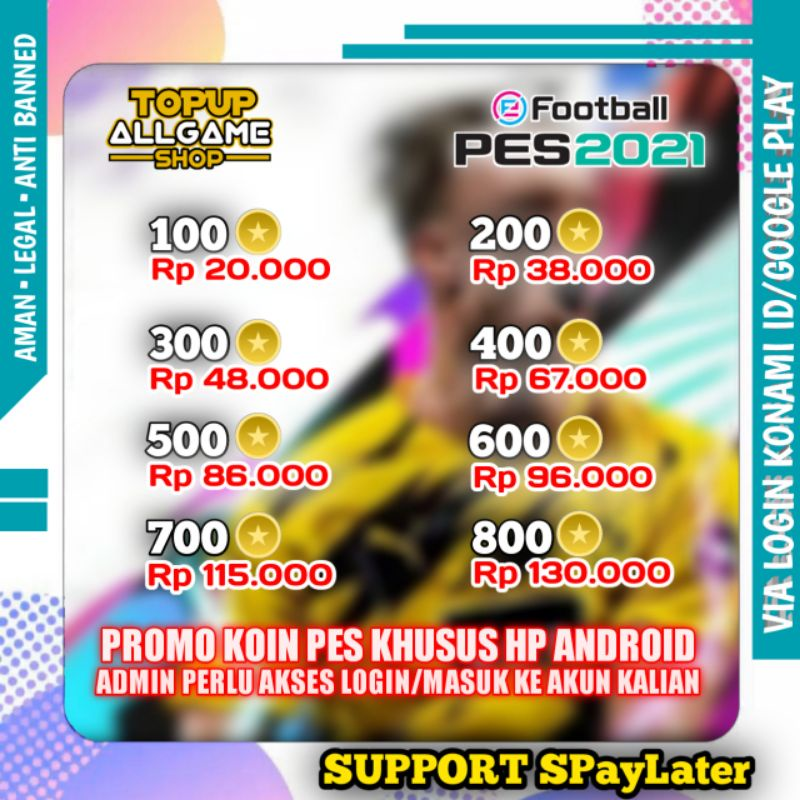 TOP UP PROMO COIN MINI PES 2021 MOBILE