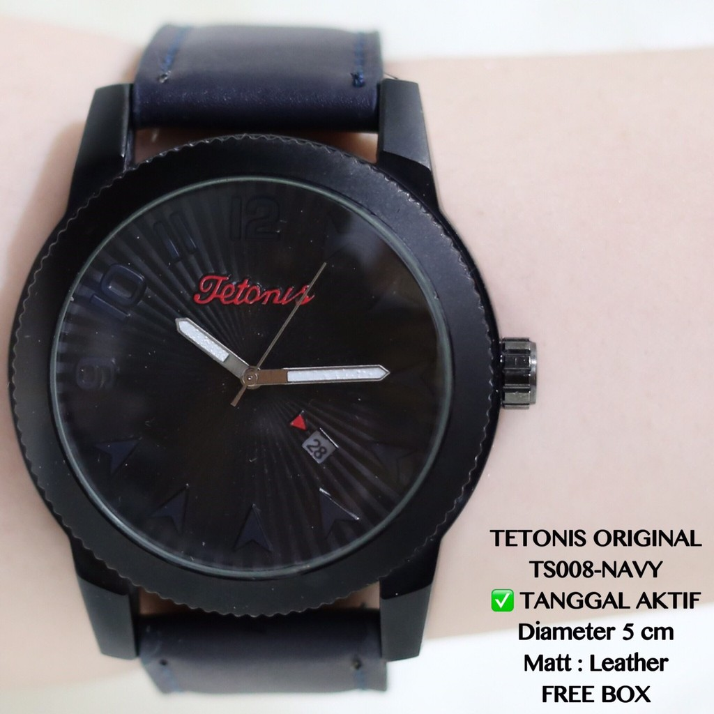 Jam tangan pria premium DIETRICH chrono detik dan tanggal aktif DT003  c067c2a9f0